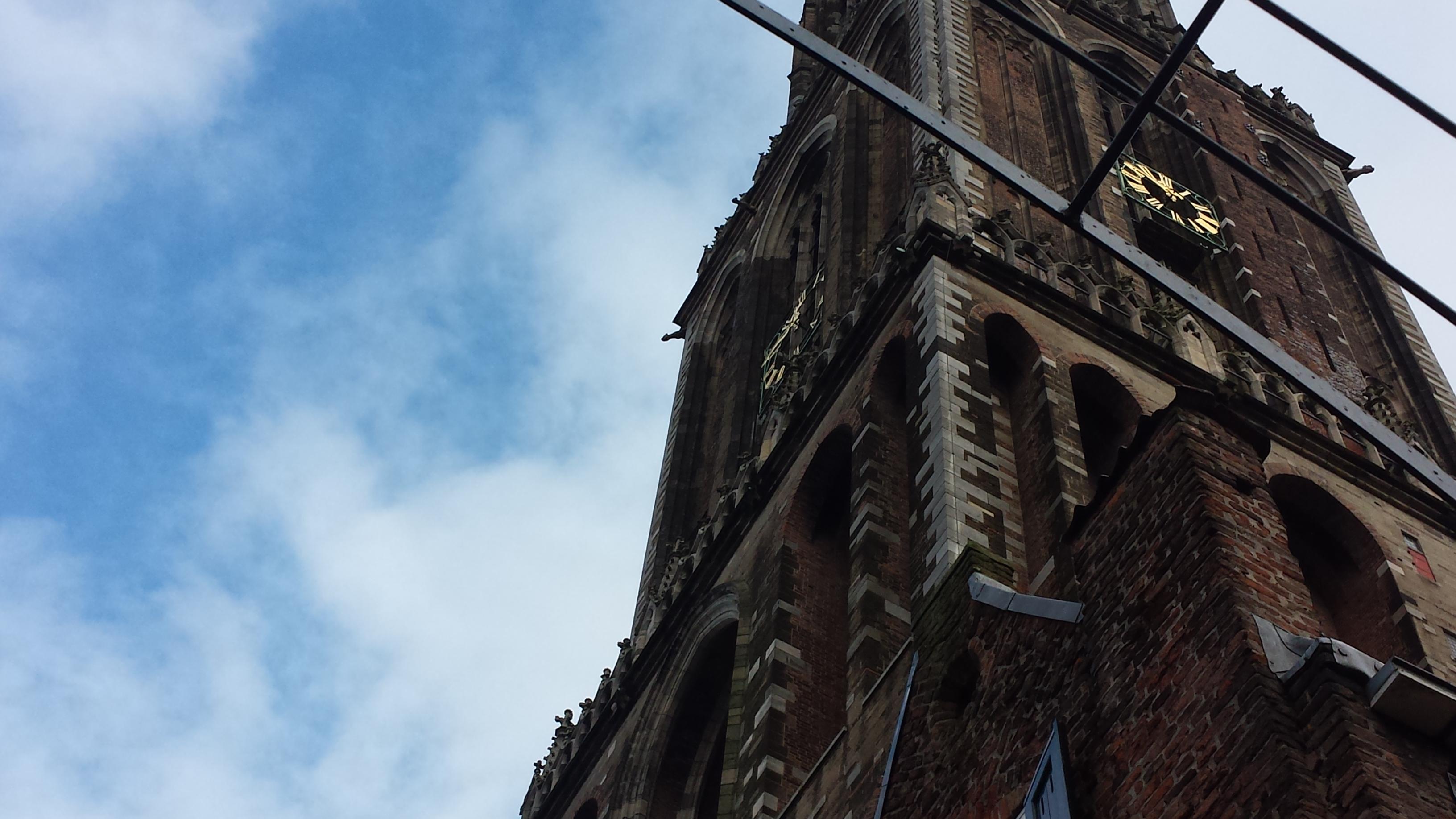 Dom Tower seen from Flora's Hof Utrecht